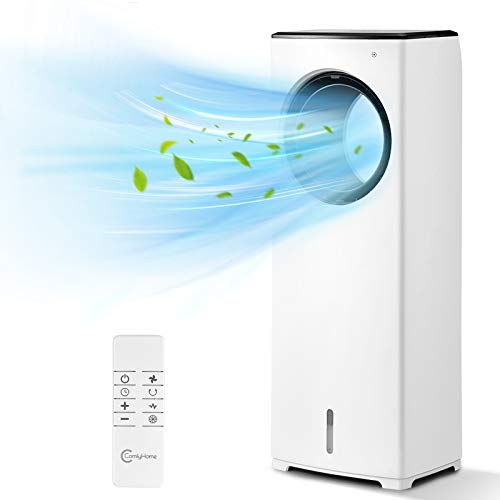 COMFYHOME 2-in-1 Air Cooler, 32' Evaporative Air Cooler Tower Fan w/Cooling&Humidification Function, Bladeless...