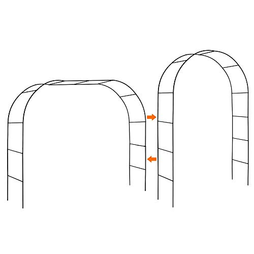Mr. Ton Garden Arch, Wedding Arch, Garden Arbor Pergola for Indoor/Outdoor Lawn Garden Various Climbing...