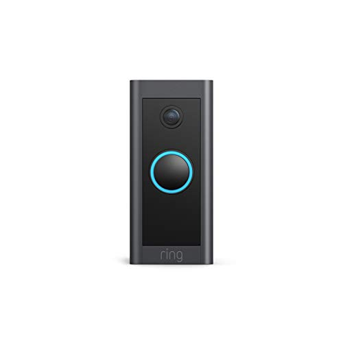 Ring Video Doorbell Wired – Convenient, essential features in a compact design, pair with Ring Chime to hear...