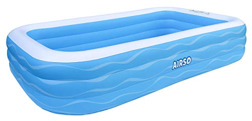 Inflatable Swimming Pool Family Full-Sized Inflatable Pools 118' x 72' x 22' Thickened Family Lounge Pool for...