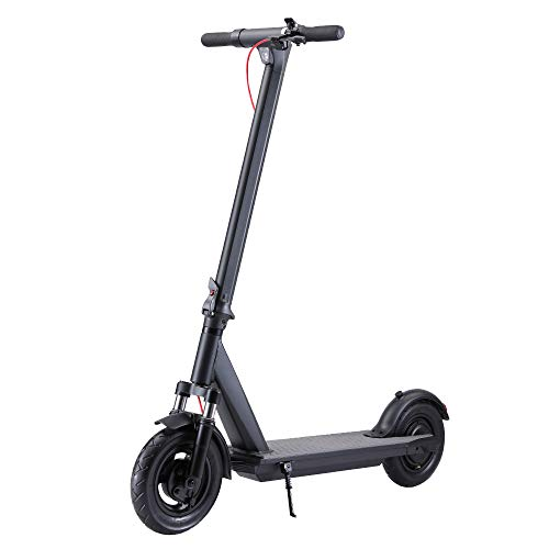 "QINGOR Electric Scooter Powerful 350W Motor 10"" Solid Tires One-Step Fold for Adults, Upgraded Adult..."