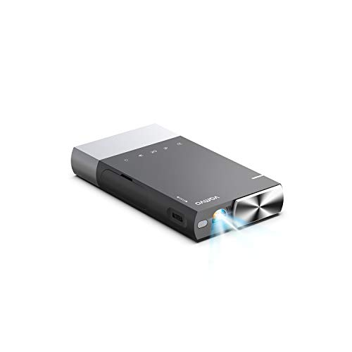 Mini Projector, Vamvo Ultra Mini Portable Projector 1080p Supported HD DLP LED Rechargeable Pico Projector...