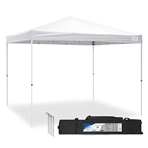 Caravan Canopy Sports 21007900010 10x10 V-Series 2 Pro Kit White Canopy, 10'x10' Base 10'x10' top