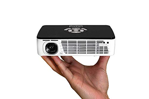 AAXA Technologies P300 Pico Projector with Rechargeable Battery - Native HD resolution with 500 LED Lumens,...