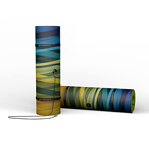 Floatation iQ (15' x 6') Floating Oasis Printed Foam Mat Lake Pad, Wave