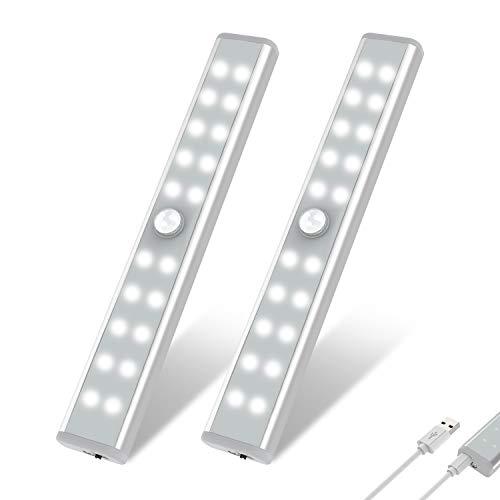 Wardrobe Light, OxyLED Motion Sensor Closet Lights, 20 LED Under Cabinet Lights, USB Rechargeable Stick-on...