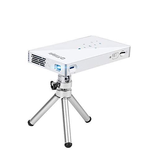 PTVDISPLAY Pocket Portable Mini Projector, 1080P Pico Bluetooth Video WiFi DLP Projector Full HD Support...