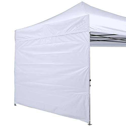 ABCCANOPY Instant Canopy SunWall 10x10 FT, 1 Pack Sidewall Only, White