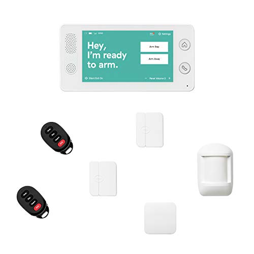 Cove 7 Piece Wireless Home Security System with 24/7 Professional Monitoring Trial, No Contracts — Touch...