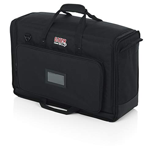 Gator Cases Padded Nylon Dual Carry Tote Bag for Transporting (2) LCD Screens, Monitors and TVs Between 19' -...