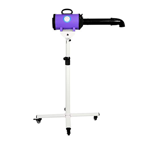 Flying Pig High Velocity Dog Pet Stand Grooming Dryer w/Variable Air Speed & Heat (Purple)