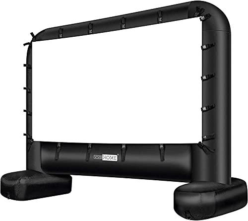 VIVOHOME 14 Feet Indoor and Outdoor Inflatable Blow up Mega Movie Projector Screen with Carry Bag for Front...