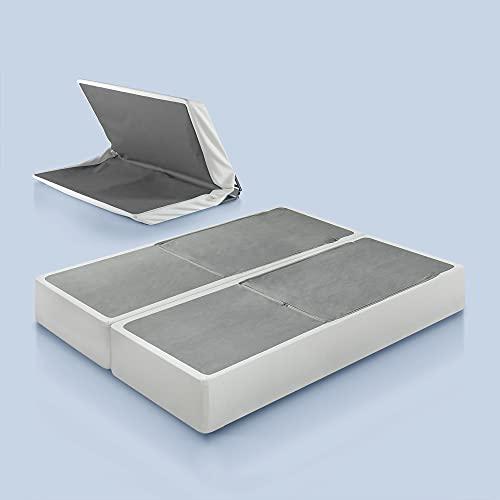 Zinus Jayanna 9 Inch BiFold Box Spring / Mattress Foundation / Zero Assembly / Sturdy Metal Structure / High...
