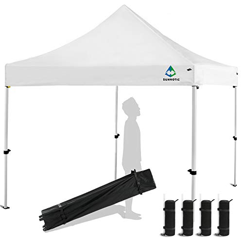 Sunnotic 10'x10' Pop Up Canopy Tent Outdoor Folding Camping Shade Canopy Tent Ez Up Portable Instant Pop Up...