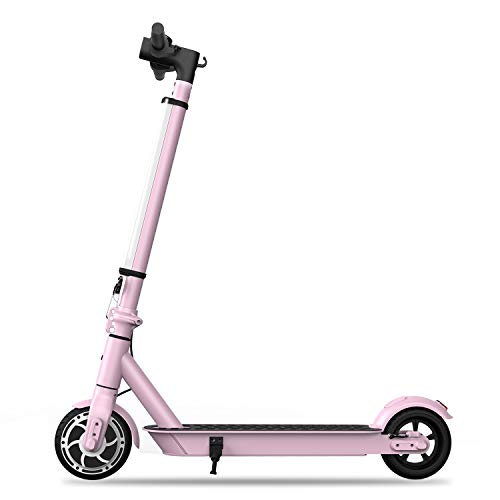 Hiboy S2 Lite Electric Scooter - 6.5' Solid Tires - Up to 10.6 Miles Long-Range & 13 MPH Portable Folding...