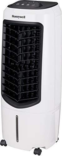 Honeywell Portable Evaporative Cooler with Fan, Humidifier & Remote, 29.6' TC10PEU, White