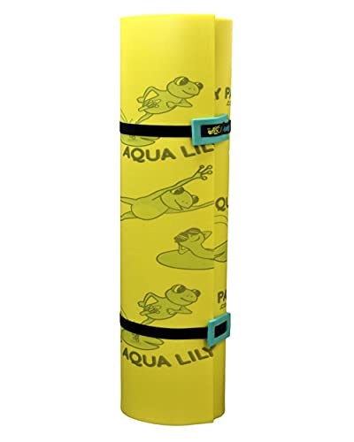 Aqua Lily Pad Original Floating Water Mat, Patented 2 Layer FlexCore Green / Yellow Foam Raft, Made in The USA...