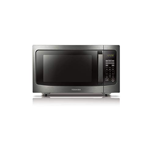 Toshiba ML-EM45P(BS) Countertop Microwave Oven with Smart Sensor, Sound on/Off Function and Position Memory...