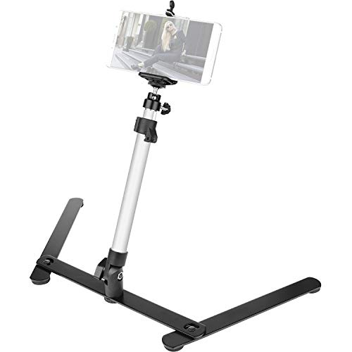 ChromLives Photo Copy Stand Pico Projector Stand with Phone Clamp Overhead Phone Mount Phone Stand Mini Tripod...