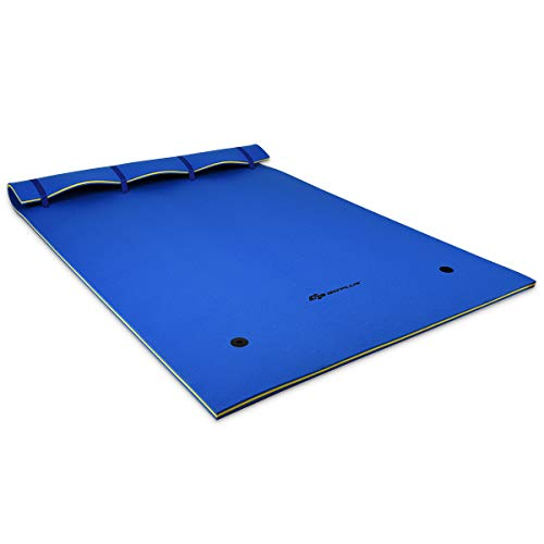 Goplus Floating Water Pad for Water Recreation and Relaxing, Tear-Resistant XPE Foam Floating Mat for Pool,...