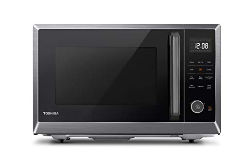 Toshiba ML2-EC10SA(BS) 4-in-1 Microwave Oven with Healthy Air Fry, Convection Cooking, Easy-Clean Interior and...