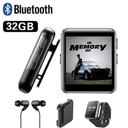 32GB Clip MP3 Player with Bluetooth, Sports Watch MP3 Player with Touch Screen, Mini MP3 Player with...