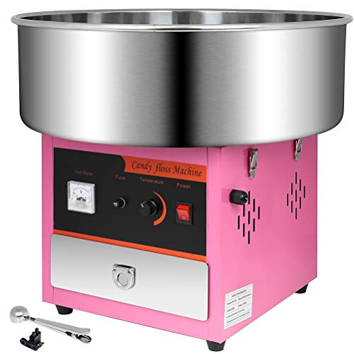 Cuilvu 1000W Cotton Candy Maker Large Commercial Cotton Candy Machine Fashion Min Commercial Sugar Equipment...