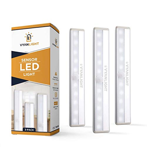 LED Closet Light Motion Activated, Cordless Under Cabinet Motion Sensor Light, Wireless Stick-on Anywhere...
