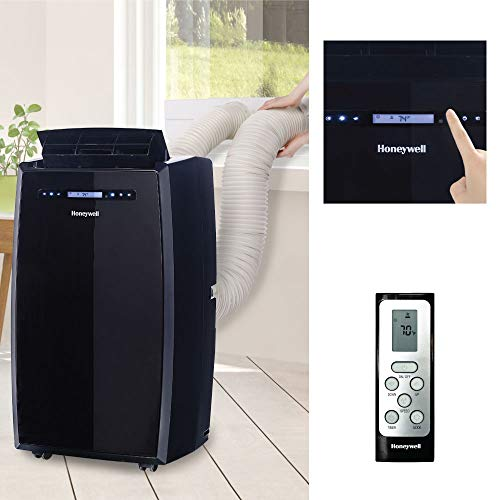 Honeywell (Black MN14CCDBB Dual Hose Portable Air Conditioner with Dehumidifier, Fan Cools Rooms Up to 550...