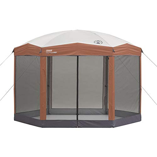 Coleman Screened Canopy Tent | 12 x 10 Back Home Screened Sun Shelter with Instant Setup