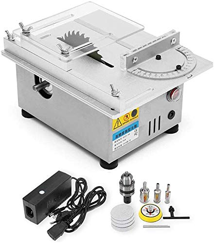 96W Mini Precision Table Saws, Multifunctional Wood Working Bench 7000 / min Lathe Electric Polisher Grinder...