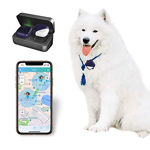 PETFON Pet GPS Tracker, No Monthly Fee, Real-Time Tracking Collar Device, for Dogs and Pets Activity...
