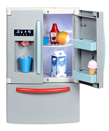 Little Tikes First Fridge Refrigerator with Ice Dispenser Pretend Play Appliance for Kids, Play Kitchen Set...