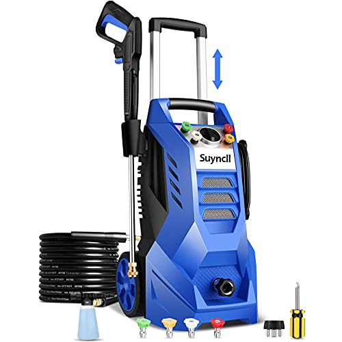 Suyncll Electric Pressure Washer 3800PSI, 2.6GPM Power Washer Cleaner with 4 Nozzles, Detergent Tank, Best for...