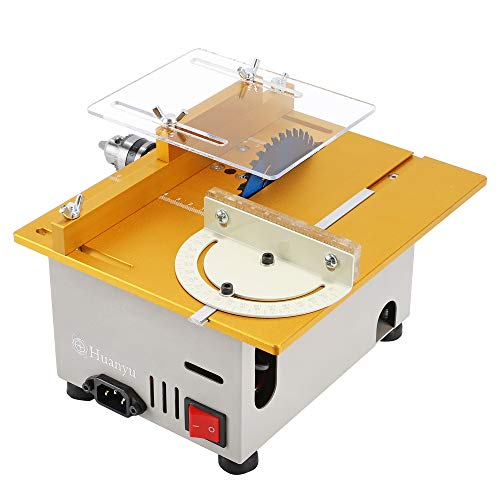 Huanyu Mini Table Saw Multifunctional Liftable Blade 6T with Miter Gauge 300W Power DIY Woodworking Handmade...