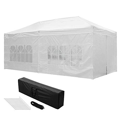 Yescom 10x20 FT Easy Pop Up Canopy Folding Wedding Party Tent with Removable Sidewalls & Carry Bag Outdoor...