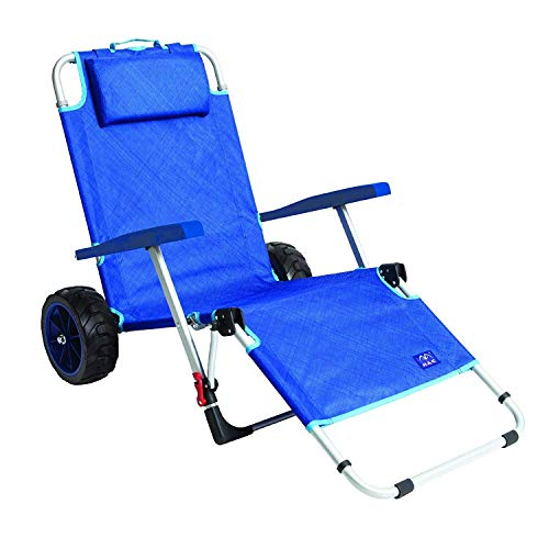 Mac Sports 2-in-1 Beach Folding Lounge Chair+Cargo Cart for Tanning Outdoors Sunbathing | Sun Chair, Tanning...
