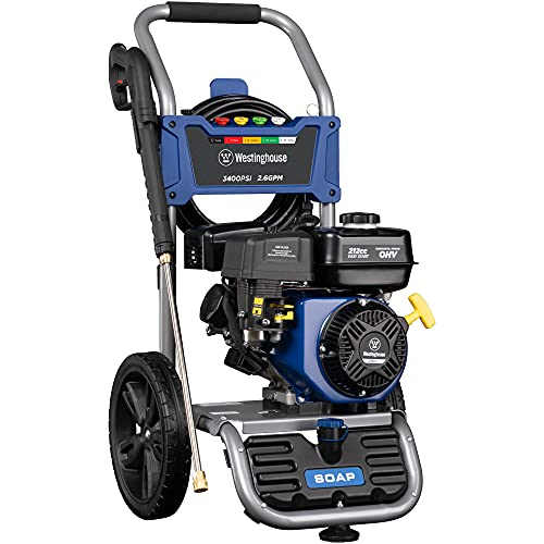 Westinghouse Outdoor Power Equipment WPX3400 Gas Powered Pressure Washer - 3400 PSI and 2.6 GPM - Soap Tank...