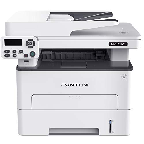 Pantum M7102DW Monochrome Laser Multifunction Printer with Copier Scanner, High Print and Copy Speed,...