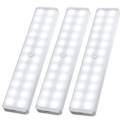 LED Closet Light, 24-LED Newest Version Rechargeable Motion Sensor Closet Light Under Cabinet Wireless...