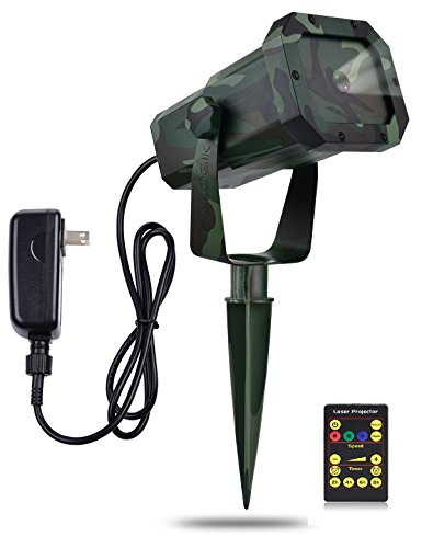 Premium Christmas Outdoor Waterproof Laser Projector Light- Moving RGB 20 Patterns- with RF Remote Control and...