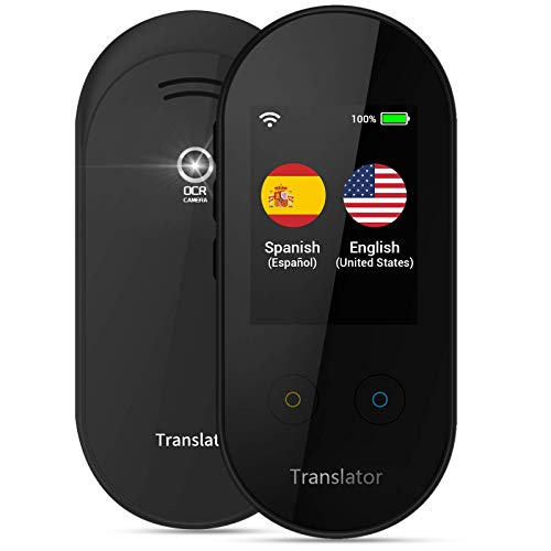 ANFIER Language Translator Device with AI Voice Translator (W08) with 2.4 inch Touchscreen Image...