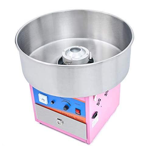 CO-Z 20.5 Inch Cotton Candy Machine, Large Commercial Cotton Candy Floss Maker, Pink Electric Candy Floss...