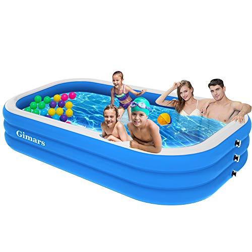 Gimars Upgrade Thicker No Leaking 120x72x22 Inch Inflatable Swimming Pools - Full-Sized Inflatable Pools,...