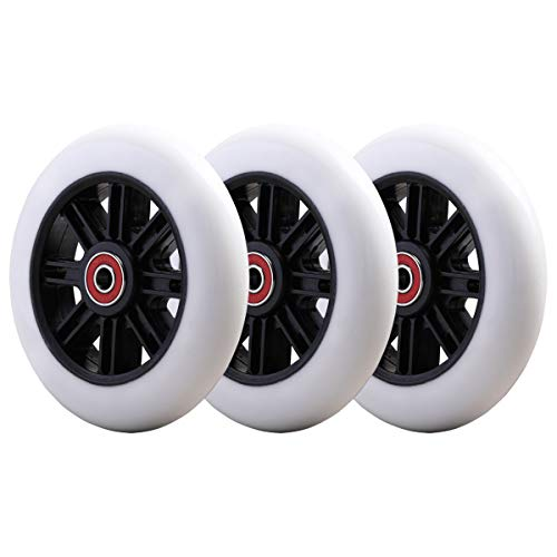 3-Pack Upgrade Flashing Replacement Wheel Set -4.8 Inch- Compatibale with Yvolution Y Fliker Air A1, B1 Swing...