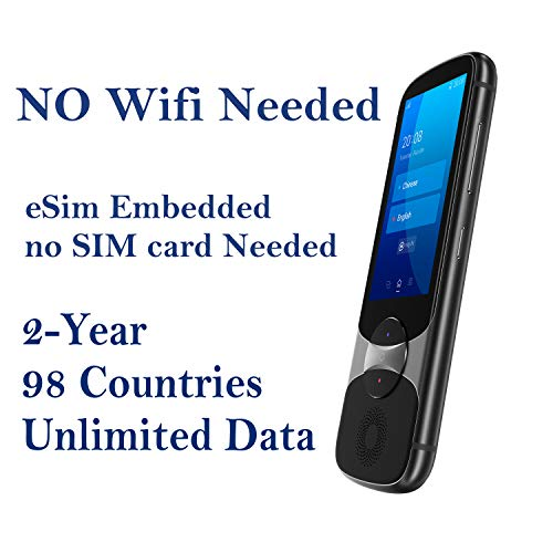 Jarvisen Language Translator Device with Unlimited 2-Year Global Data (No WiFi Need) 200+ Countries 95+%...