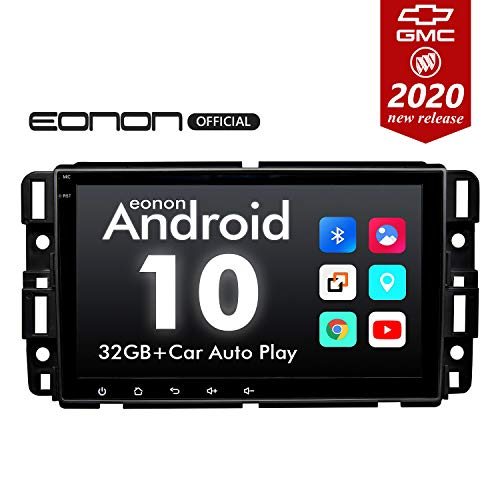 2020 Newest Car Stereo Double Din Car Stereo, Android 10 Radio Eonon Car Stereo for Chevy/Chevrolet Silverado...