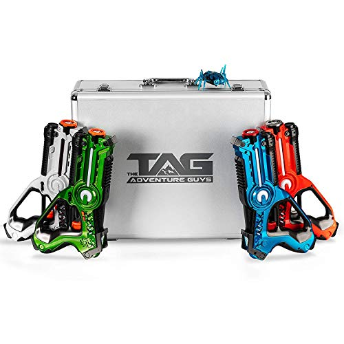 The Adventure Guys Deluxe Lazer Tag Gun Set with Designer Case - Laser Tag Guns Set of 4 for the Whole Family...