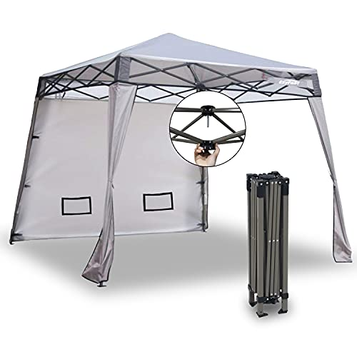 EzyFast Elegant Pop Up Beach Shelter, Compact Instant Canopy Tent, Portable Sports Cabana, 7.5 x 7.5 ft Base /...
