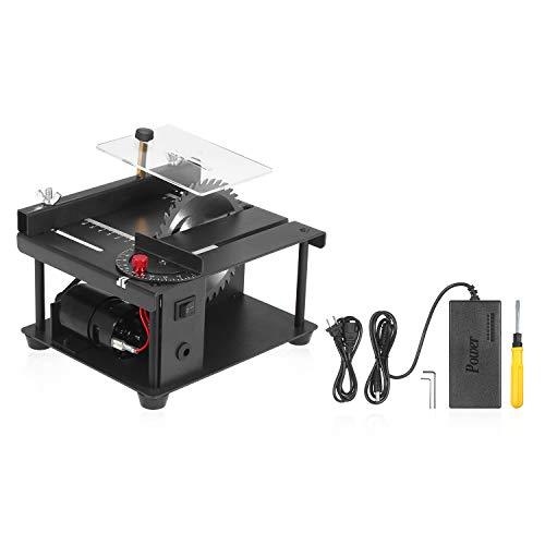 sazoley Mini Precision Table Saws, Multi-Functional Table Saw with Saw Blade Adjustable-Speed 0°-90° Angle...